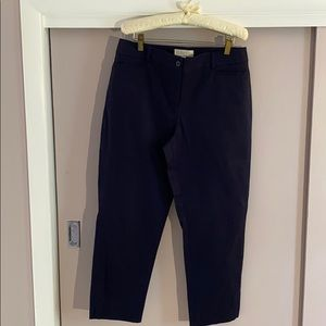 Talbots navy blue ankle pants like new